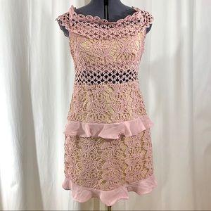 Romeo + Juliet Romantic Lace Cap Sleeve Dress